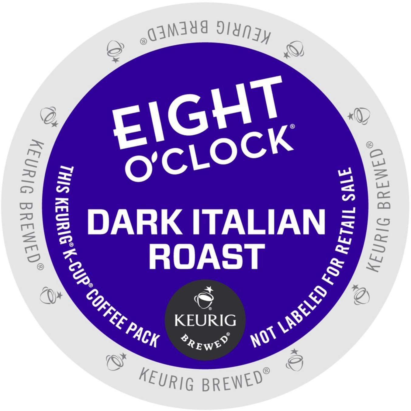 Eight O'clock Dark Italian Roast Coffee, K-Cup Portion Pack for Keurig Brewers, 24 Count