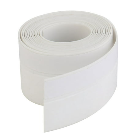 Weather Stripping Silicone Door Seal Stopper White 6.6 Ft Length,1.8 Inch Width