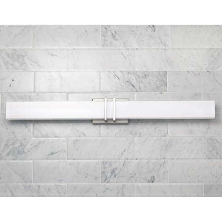 Possini Euro Design Modern Wall Light LED Brushed Nickel 36