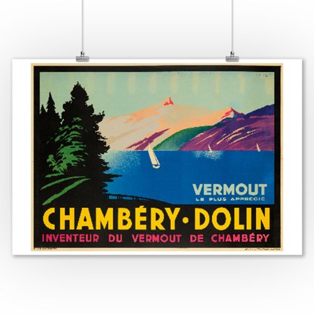 Chambery - Dolin Vintage Poster (artist: Cello) France (9x12 Art Print, Wall Decor Travel Poster)