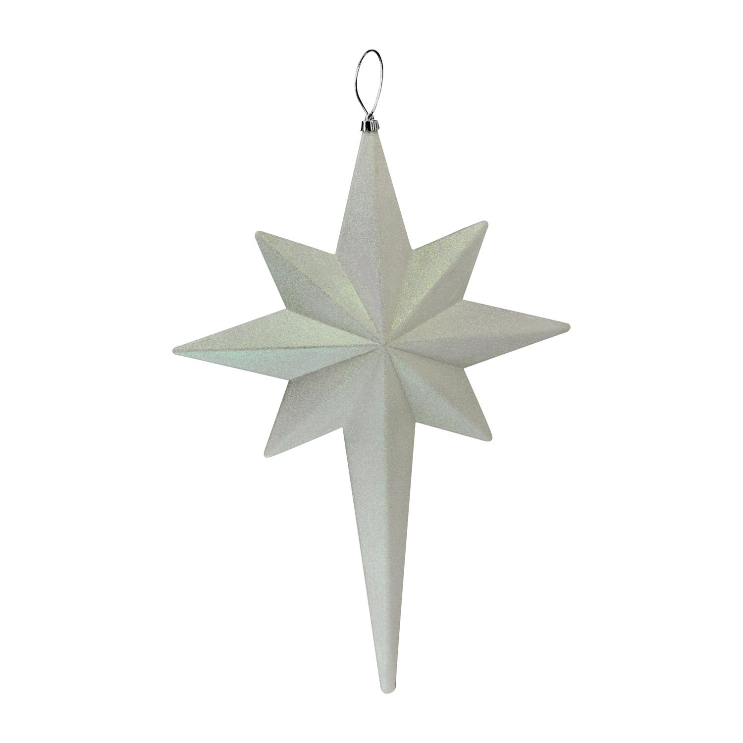 "20"" Winter White Glittered Bethlehem Star Shatterproof Christmas Ornament - image 1 de 2"