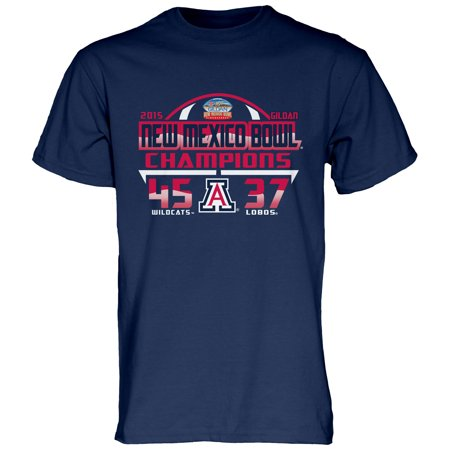 Arizona Wildcats Blue 84 2015 New Mexico Bowl Champions T-Shirt - Navy