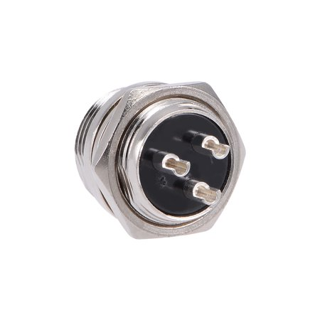 Aviation Connector 16mm 3P 7A 250V GX16 Waterproof Male Wire Panel Power 250v Shore Power Inlet