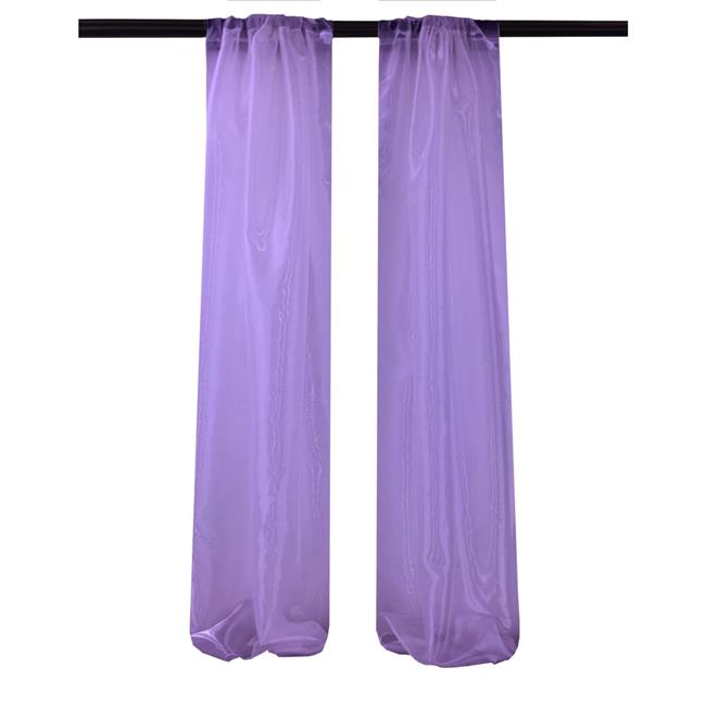LA Linen DBOrganza58x96-Pk2-PurpleO23 Mirror Organza Backdrop, Purple - 58 x 96 in. - Pack of 2