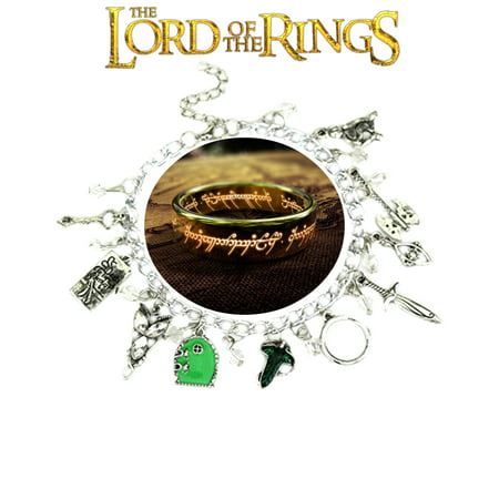 Lord of the Rings Charm Bracelet Movie Book Series Jewelry Multi Charms - Wristlet - Superheroes Brand Movie Collection