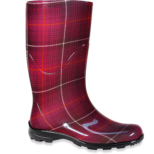 Original Womens Plaid Rain Boots  EBay