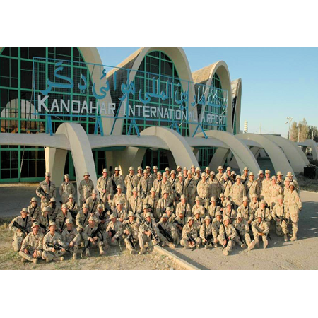 Multi Format Media - Canvas Print Members of the 603rd Air Control Squadron in Afghanistan in 2003. (31 FW Multi Media Photo) Stretched Canvas 10 x 14