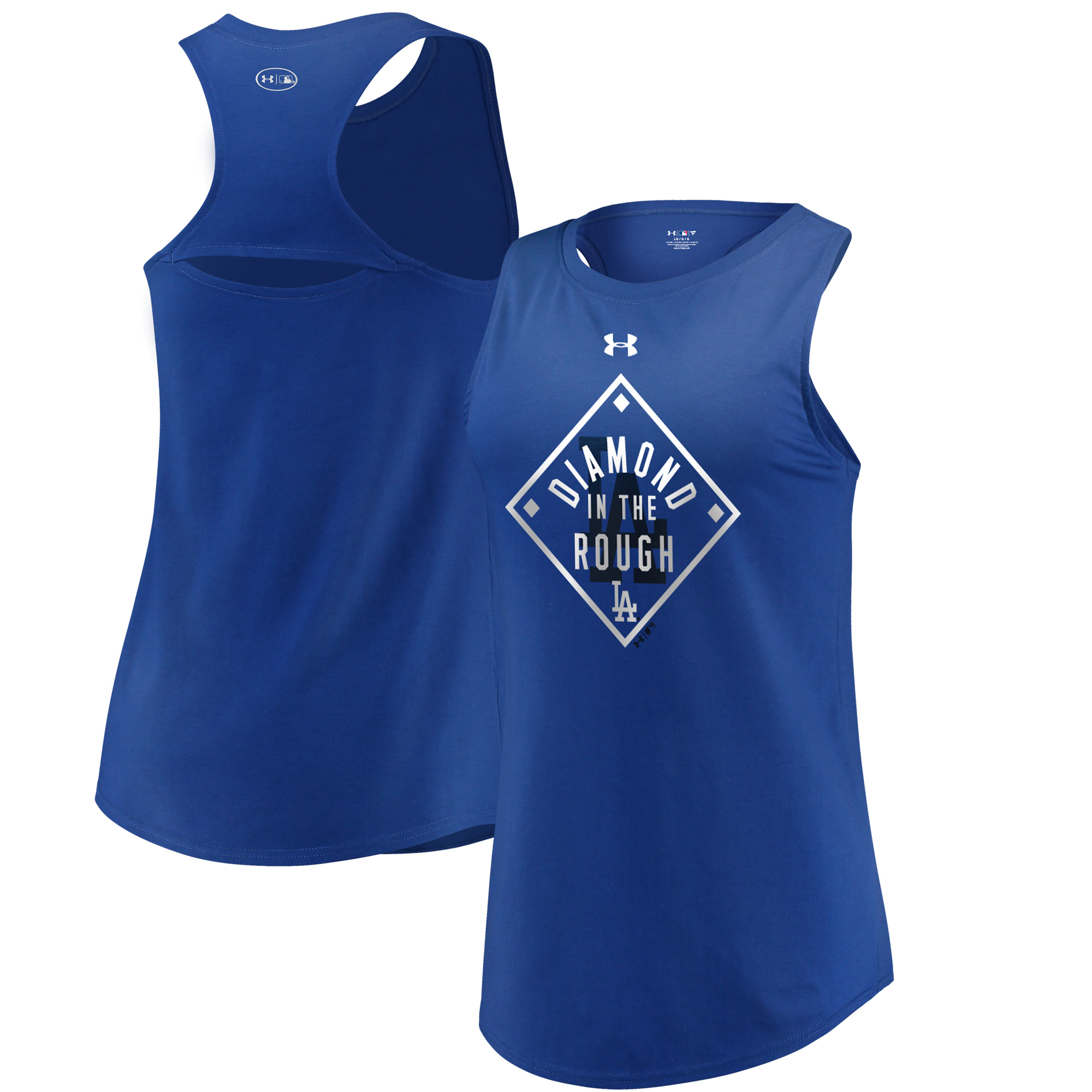 Los Angeles Dodgers Under Armour Women's Passion Diamond Tri-Blend Performance Tank Top Royal by MAJESTIC LSG