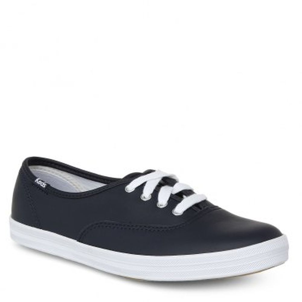 Keds WH55588 Women's Champion Originals Leather Sneakers, Navy, 8 B(M) US by Keds