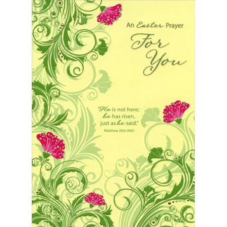 Designer Greetings He Has Risen Religious Easter Card