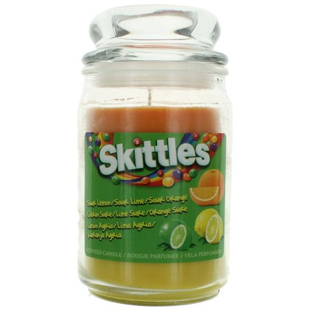 Skittles Scented Candle 16 oz Triple Pour Jar - Sour Lemon/Lime/Orange ()
