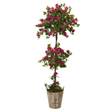 Nearly Natural 5944 Bougainvillea Tree with European Barrel Planter - image 1 of 1