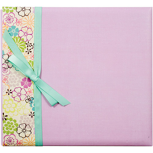 "Colorbok Postbound Album With Ribbon, 12"" x 12"""