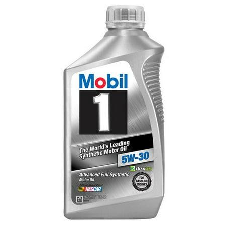(3 Pack) Mobil 1 5W-30 Full Synthetic Motor Oil, 1 qt
