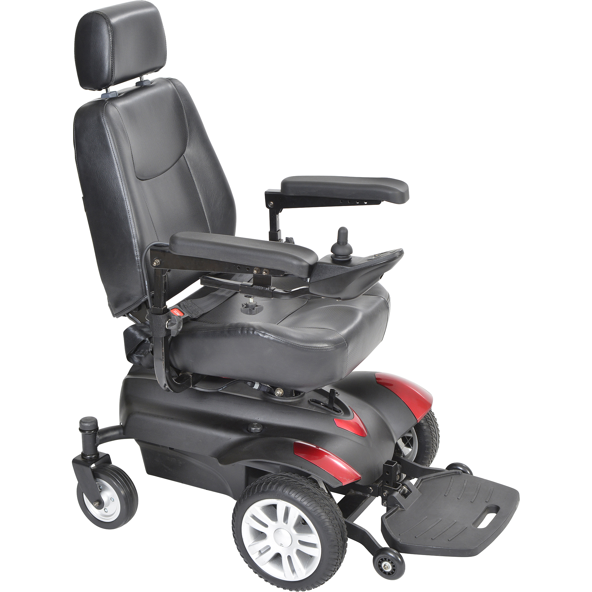 Drive Medical Titan Transportable Front Wheel Power Wheelchair, Full Back Captain's Seat, 20""