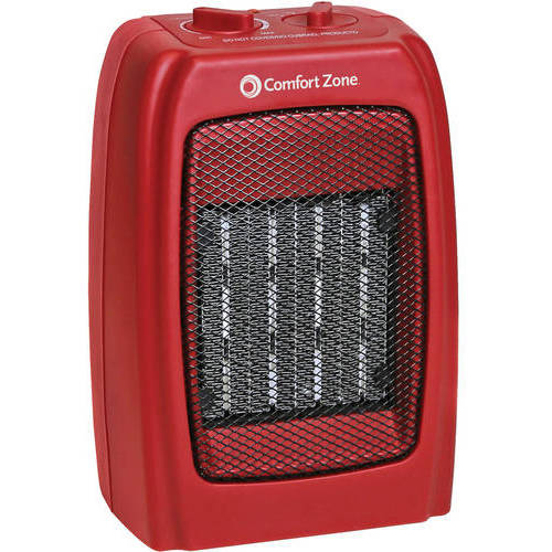 Comfort Zone Ceramic Electric Portable Space Heater, Black, CZ442WM by Generic