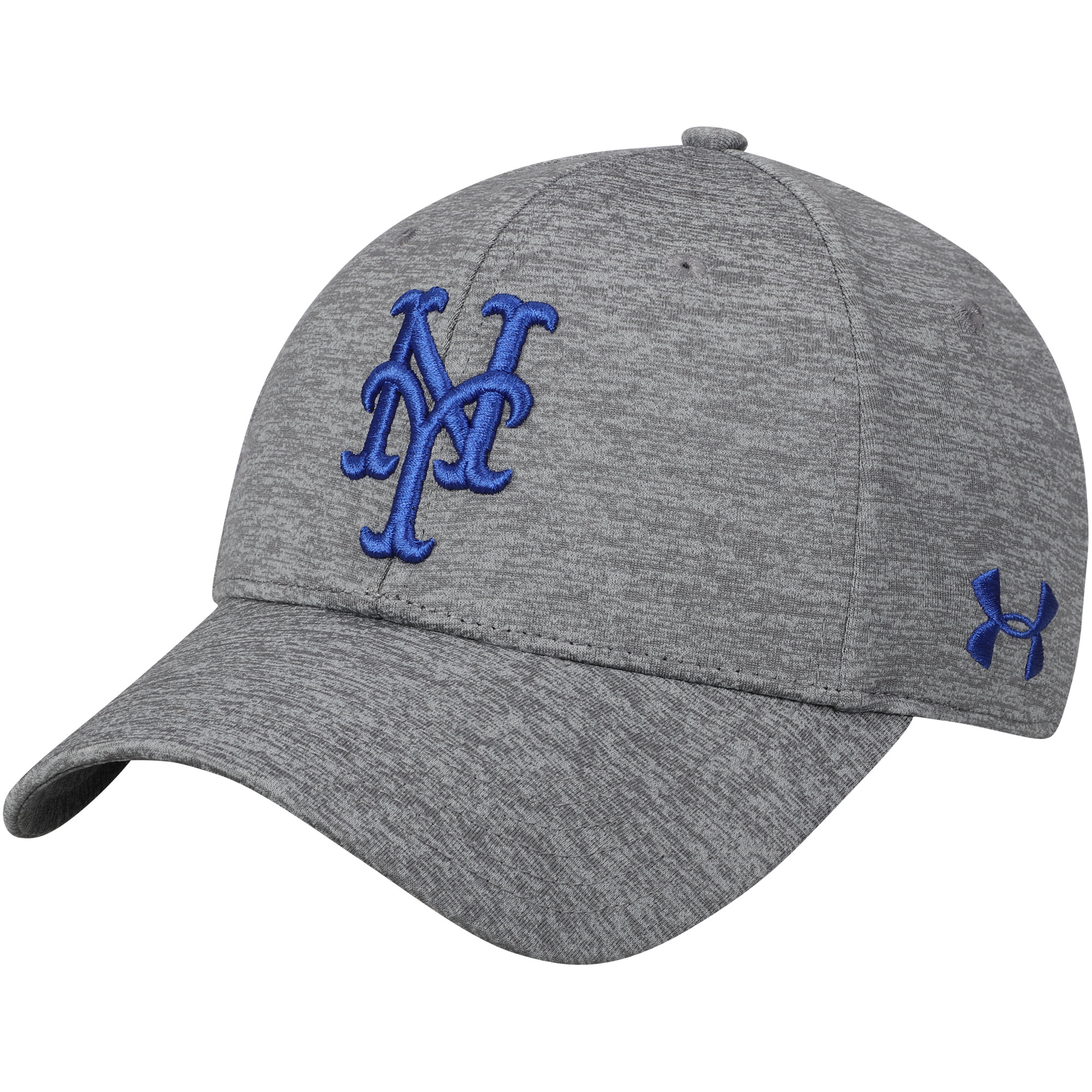 New York Mets Under Armour Twist Closer Performance Snapback Adjustable Hat - Heathered Gray - OSFA