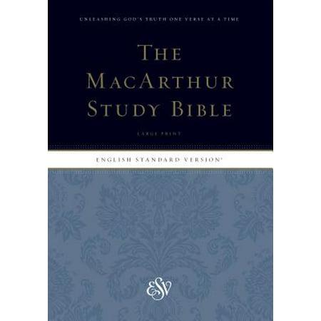 ESV MacArthur Study Bible, Large Print (Esv Study Bible Vs Macarthur Study Bible)