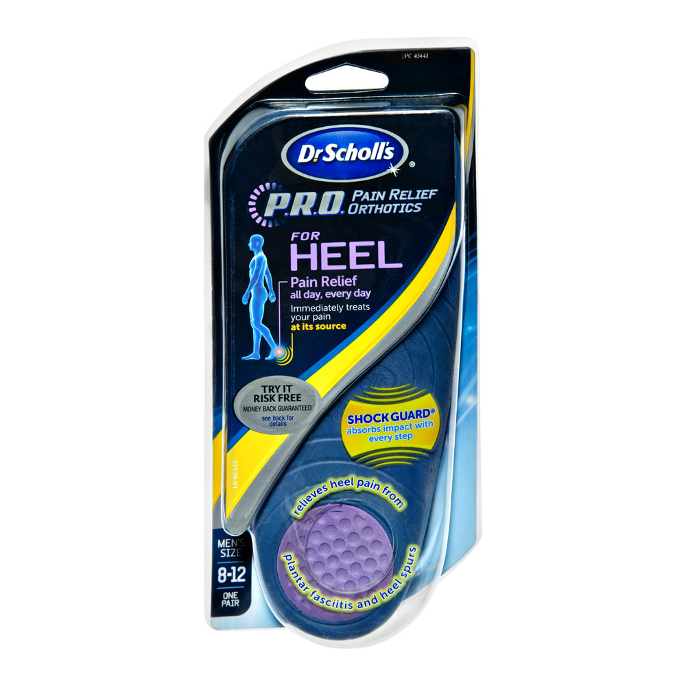 Dr. Scholl's P.R.O. Pain Relief Orthotics for Heel - Men's []