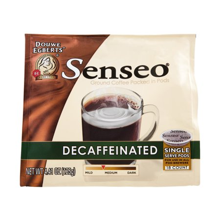 senseo decaffeinated ground coffee packed in pods 18 count oz. Black Bedroom Furniture Sets. Home Design Ideas