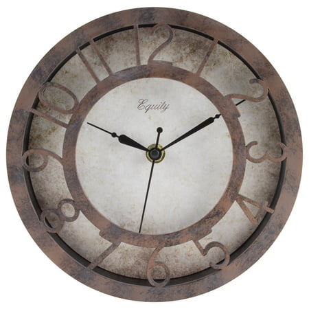 Equity by La Crosse 20861 8 inch Patina Analog Wall Clock