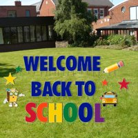 Welcome Back to School Giant Yard Letters 26pcs Includes Stakes