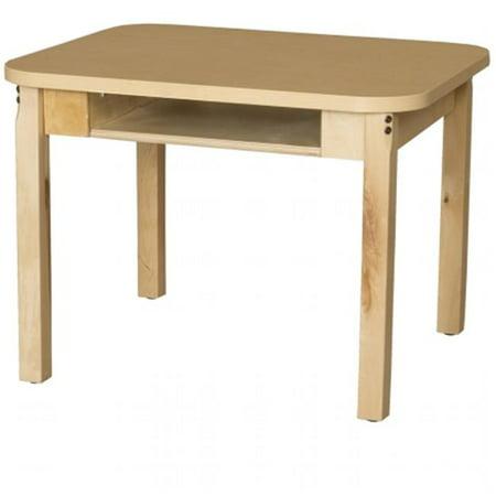 Wood Designs HPL2430DSKC18 24 x 30 in. Synergy High Pressure Laminate Deep Desk With Hardwood Legs