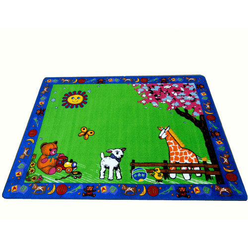 Kids World Carpets Infant Green Toys Area Rug