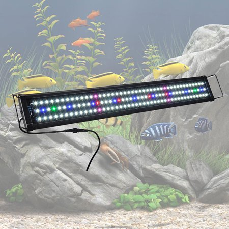 Yescom Multi-Color 78/129/156 LEDs Aquarium Light Freshwater Saltwater Fish Tank Lamp with Extendable Bracket 120w Led Aquarium Light