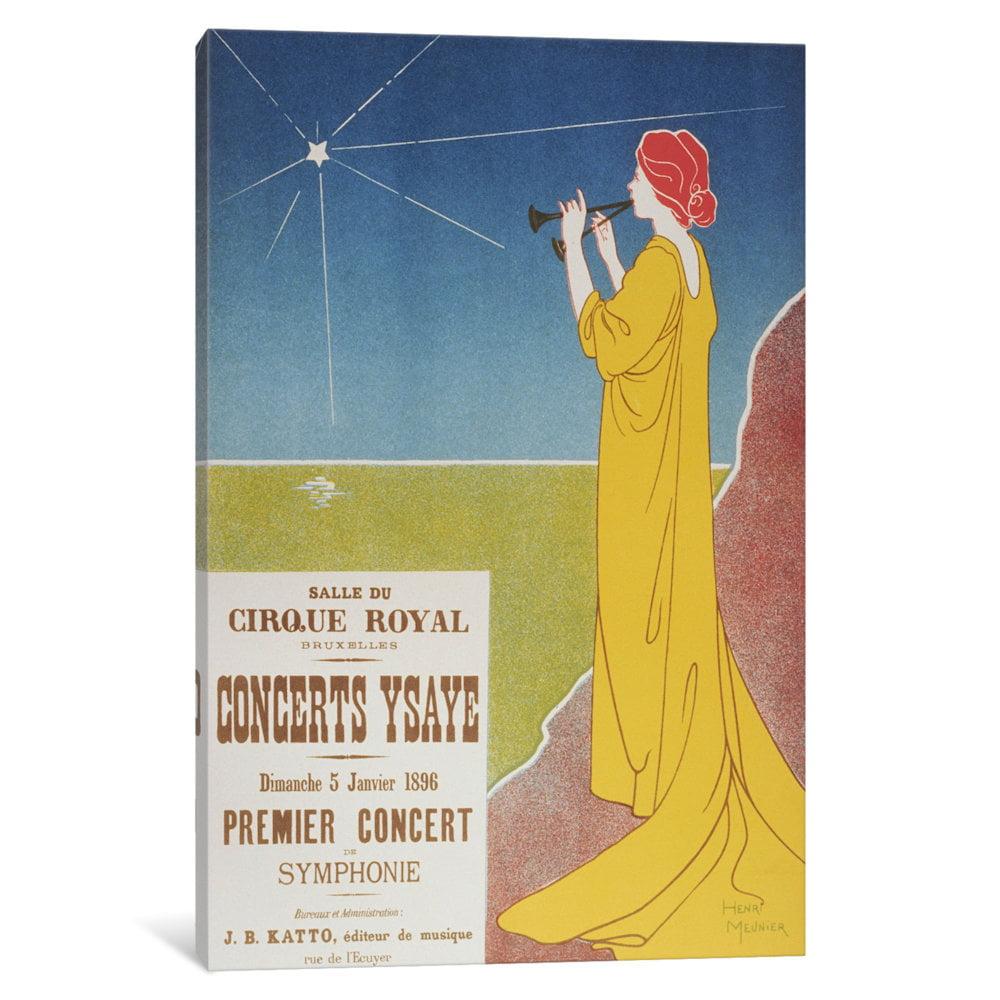 iCancas Concerts Ysaye (maitre De L'affiche) Vintage Poster Gallery Wrapped Canvas Art Print by Henri Meunier