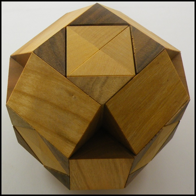 Cross in Ball Brain Teaser Wooden Puzzle by Vinco