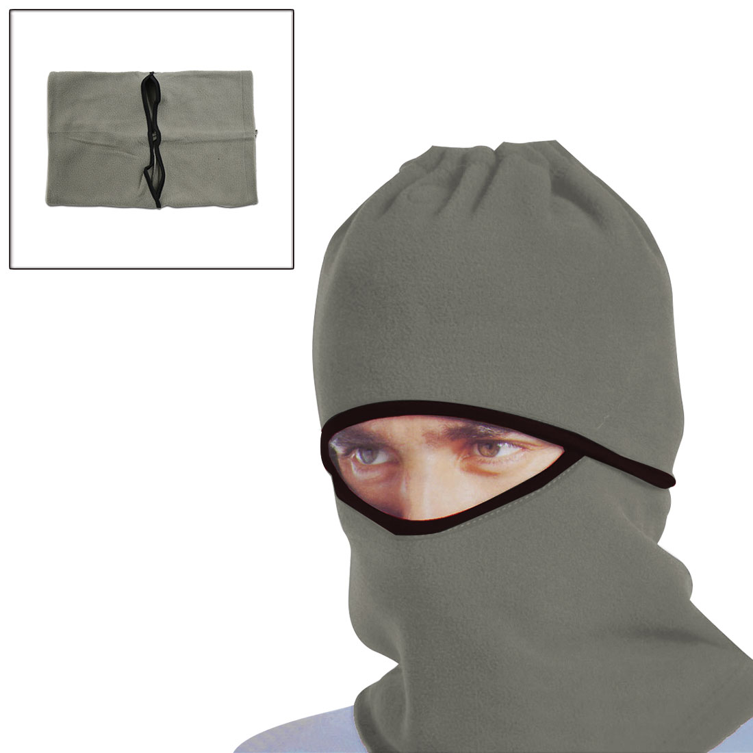 Gray Windproof Face Mask Cap Neck Protector Cover for Motorcycle Cycling Sport