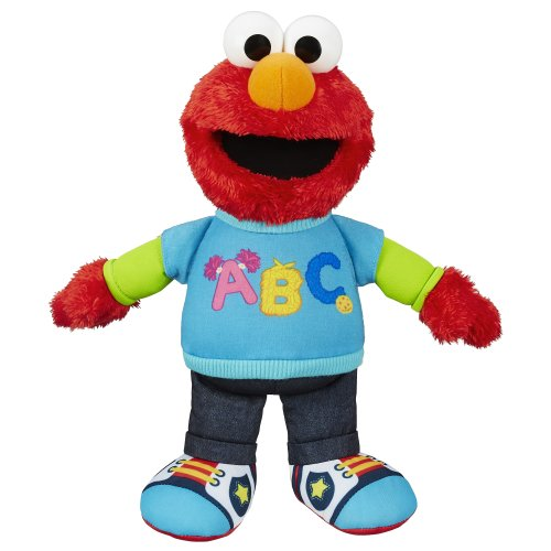 Cuddly Sesame Street Talking ABC Elmo Figure & Sings Alphabet Song Stuffed Toy by
