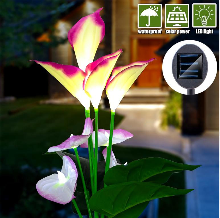 Outdoor Solar Garden Stake Lights Solar Powered Flower Lights Multi Color Changing Led Solar Landscape Lighting Light For Garden Patio Walmart Canada