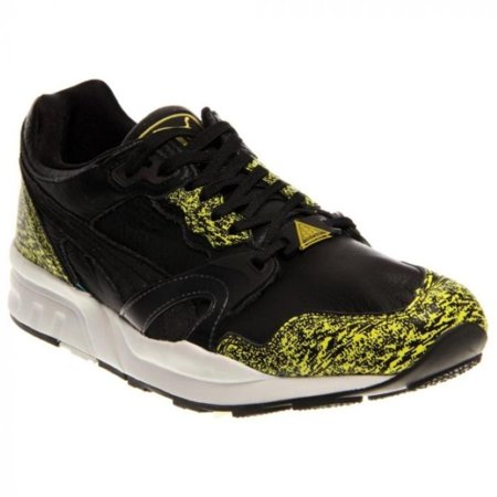 Puma Trinomic XT2+ Snow Splatter Mens Black/White/Yel Sneakers (Puma Shoes Sneakers Men)