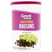Great Value California Raisins, 20 oz