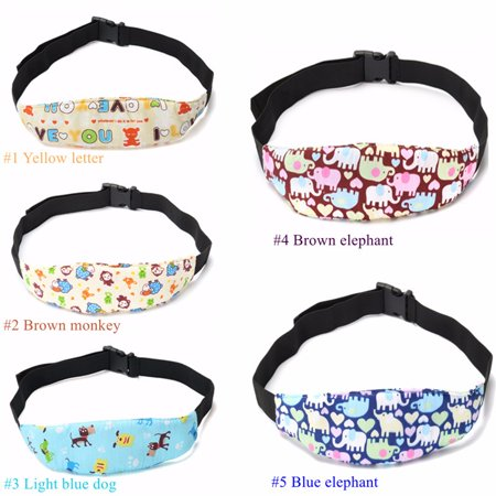 5 Pattern Adjustable Kids Baby Car Seat Head Support Safety Stroller Sleeping Belt with Adjustable Belt Head Adjustable Pattern
