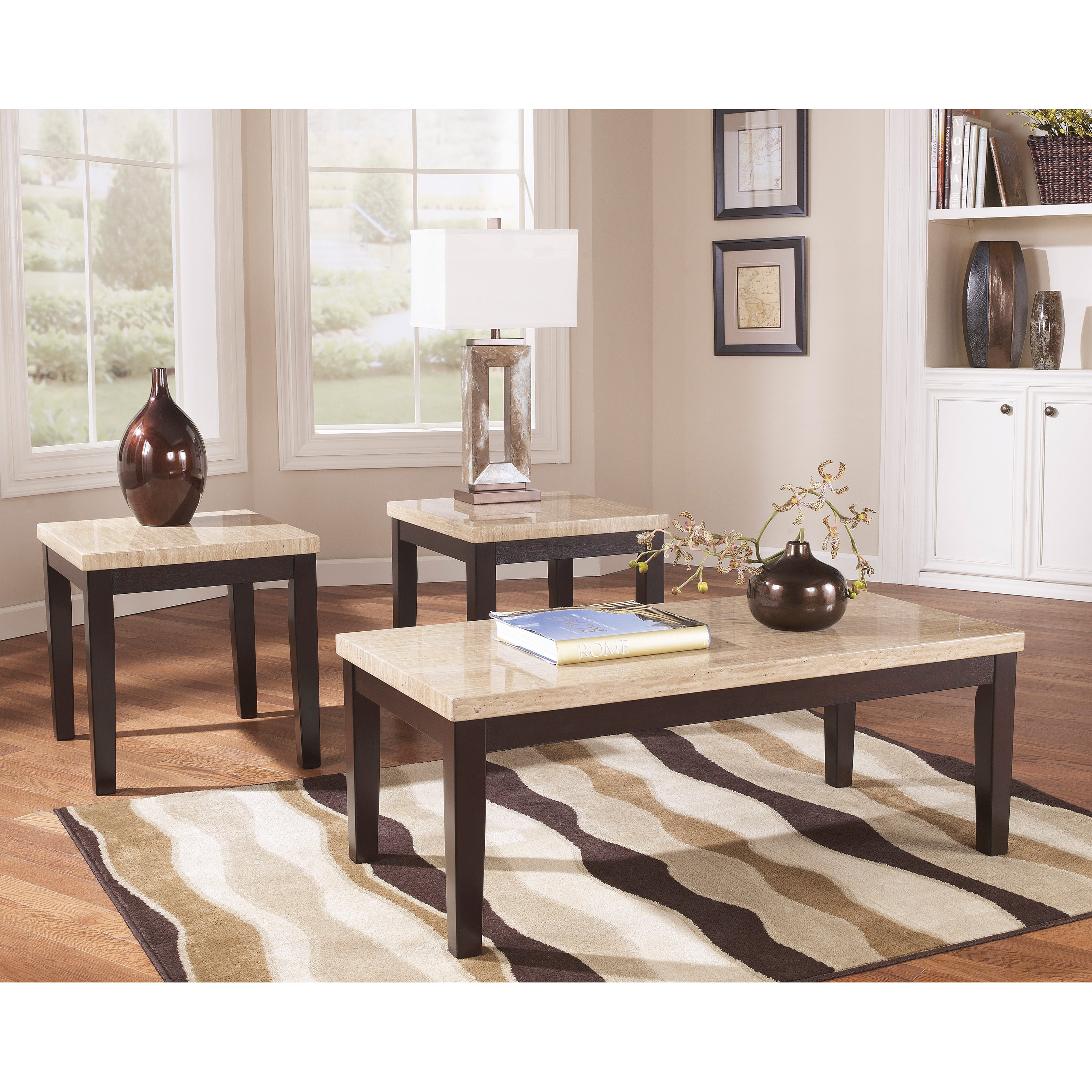 Signature Design By Ashley Wilder Espresso Occasional Table - Set of 3