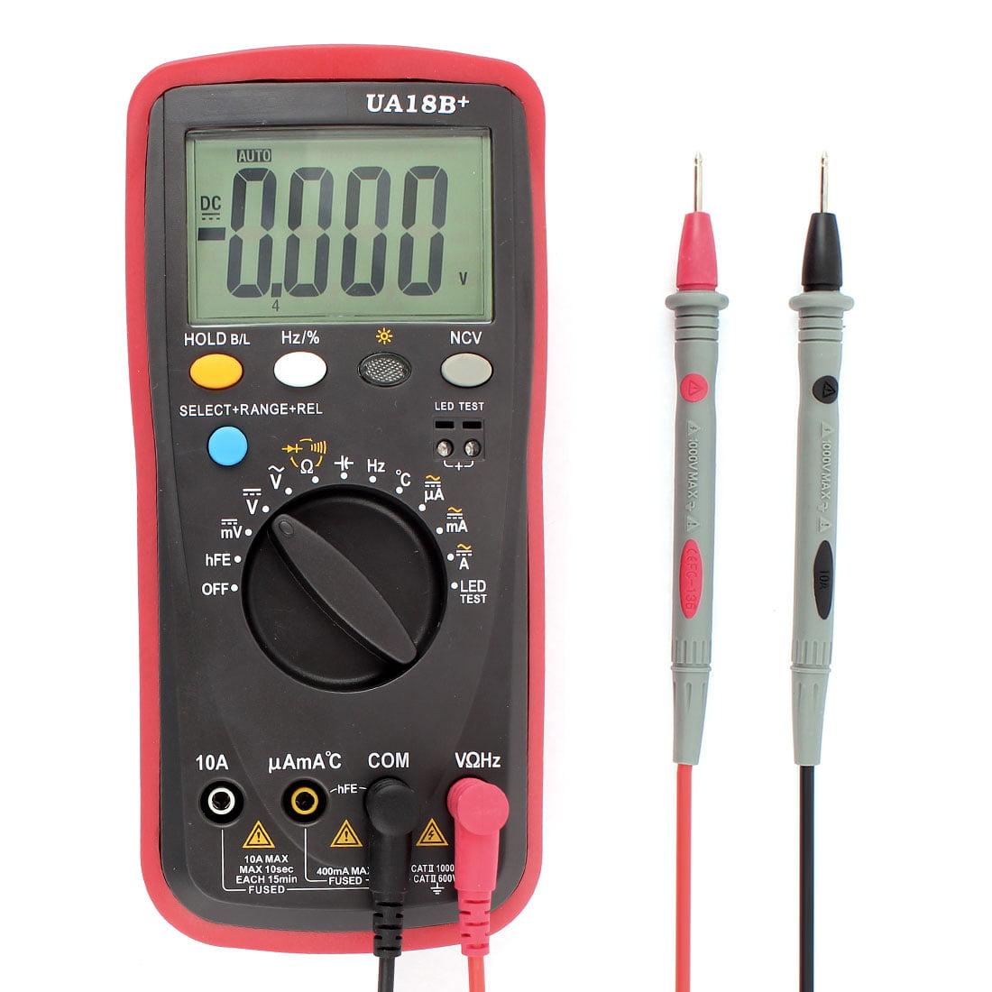 Walmart Digital Multimeter : Dc lcd tester meter voltmeter ohmmeter ammeter temp