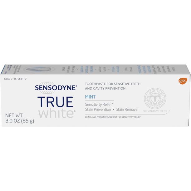 Sensodyne True White Sensitive Teeth Whitening Toothpaste Mint