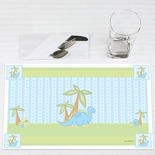 Baby Boy Dinosaur Baby Shower Placemats Set of 12 by Big Dot of Happiness, LLC