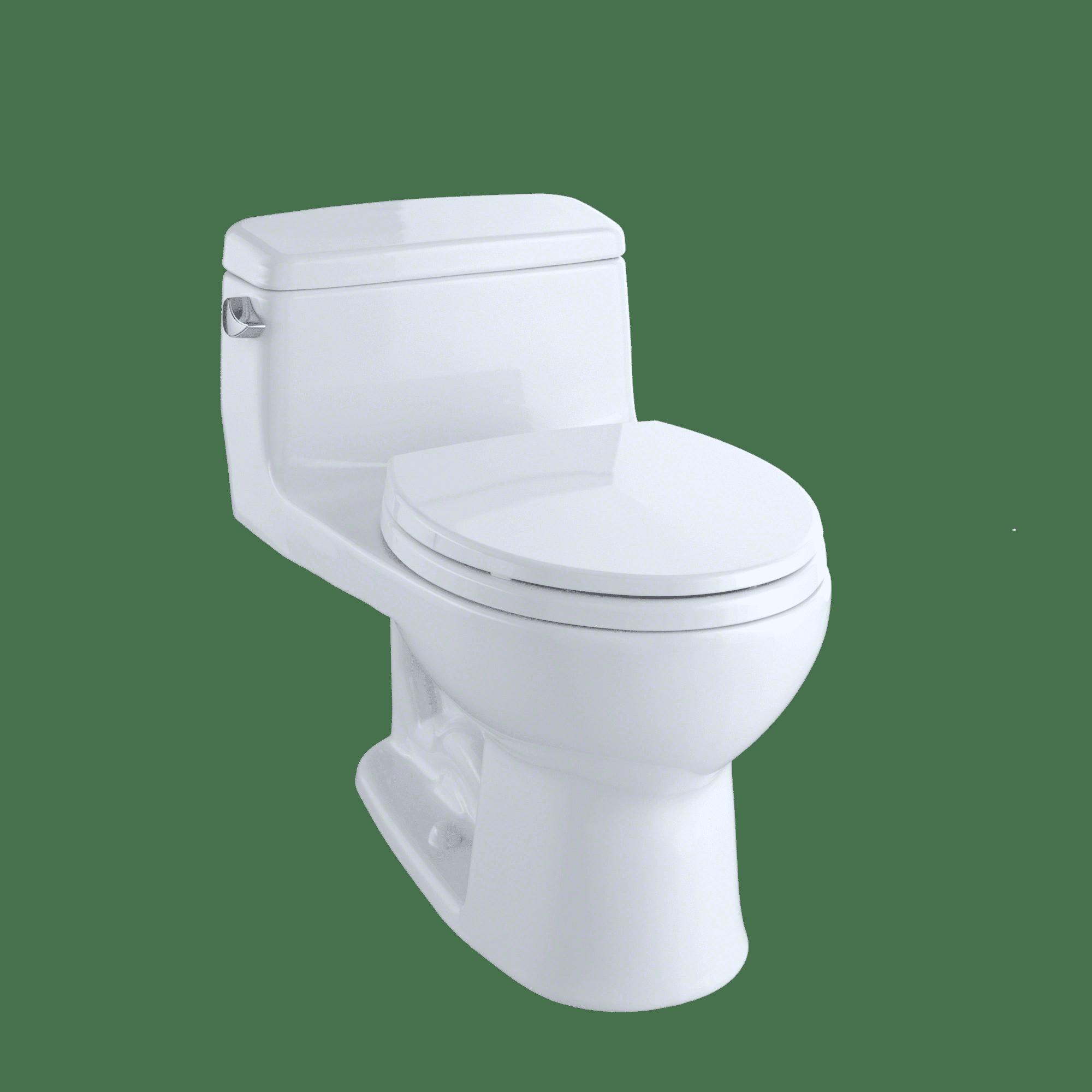 TOTO® Eco Supreme® One Piece Round Bowl 1.28 GPF Toilet, Cotton White - MS863113E#01