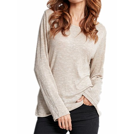 Kit Long Sleeve (Women's Casual Long Sleeve Comfy Knitted T-shirts )