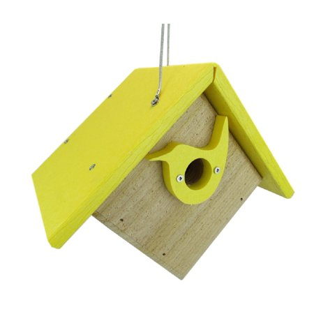 Cedar Birdhouse (Nature Products USA Classic Yellow Cedar & Recycled Poly Lumber Wren)
