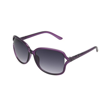 Foster Grant Women's Purple Square Sunglasses F06 (Purple Sunglasses)