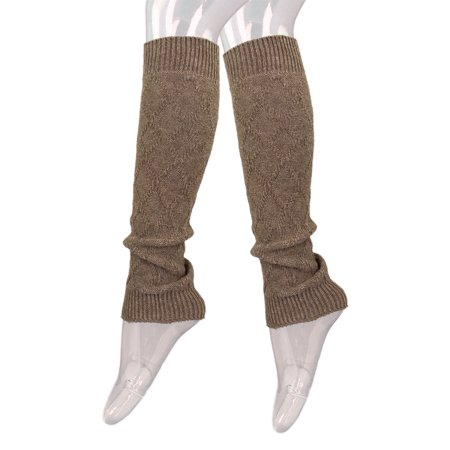 Premium Solid Color Soft Diamond Knit Leg Warmers - Red And White Striped Leg Warmers