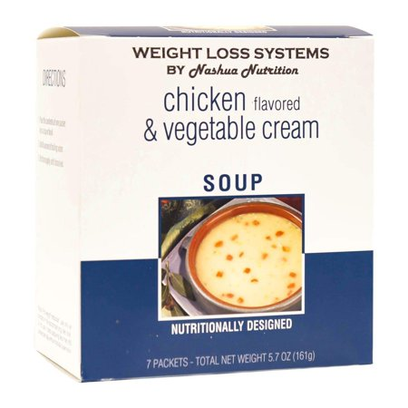 Weight Loss Systems Soup - Chicken & Vegetable Cream - High Protein 12g - Low Calorie - Low Fat - (Calories In One Cup Of Vegetable Soup)