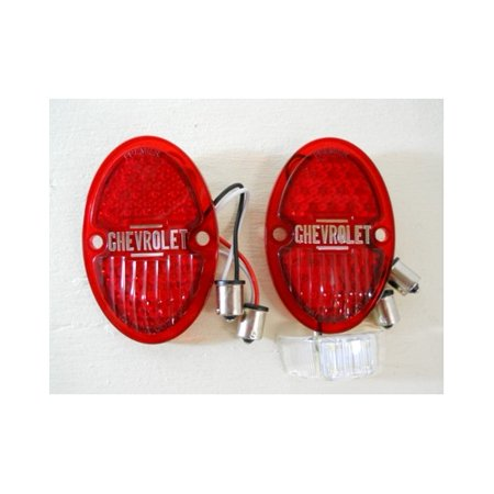 1933 - 1936 Chevy Red LED Stop Turn Tail Light Kits / LED license plate light.