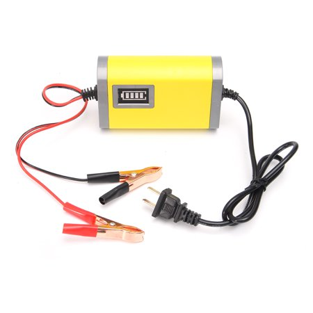 LED 12V 2A Car Motorcycle Smart Automatic Battery Charger Maintainer  - image 6 de 7