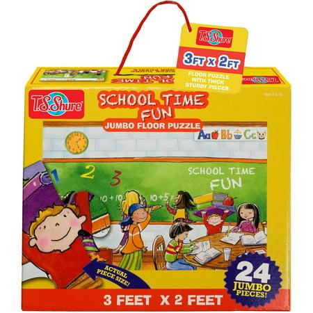 T.S. Shure School Time Fun Jumbo Floor Puzzle](Halloween Puzzles High School)